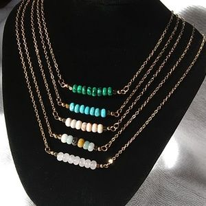 Jewelry - Natural stone beaded choker necklace